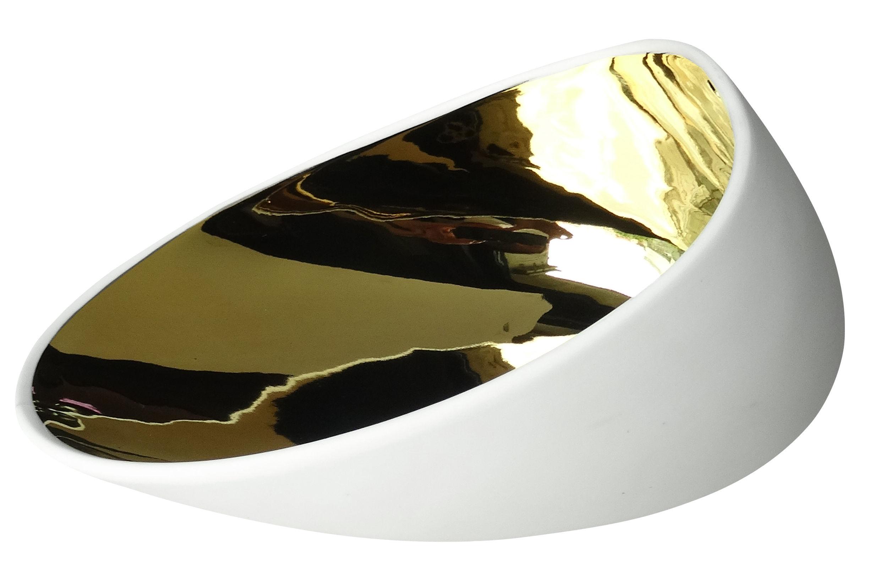 Arts de la table - Assiettes - Assiette creuse Jomon Large / Bol - 18 x 14 cm - cookplay - Or / Blanc - Porcelaine