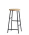 Cornet Bar stool - / H 65 cm - Bois & métal by Hay