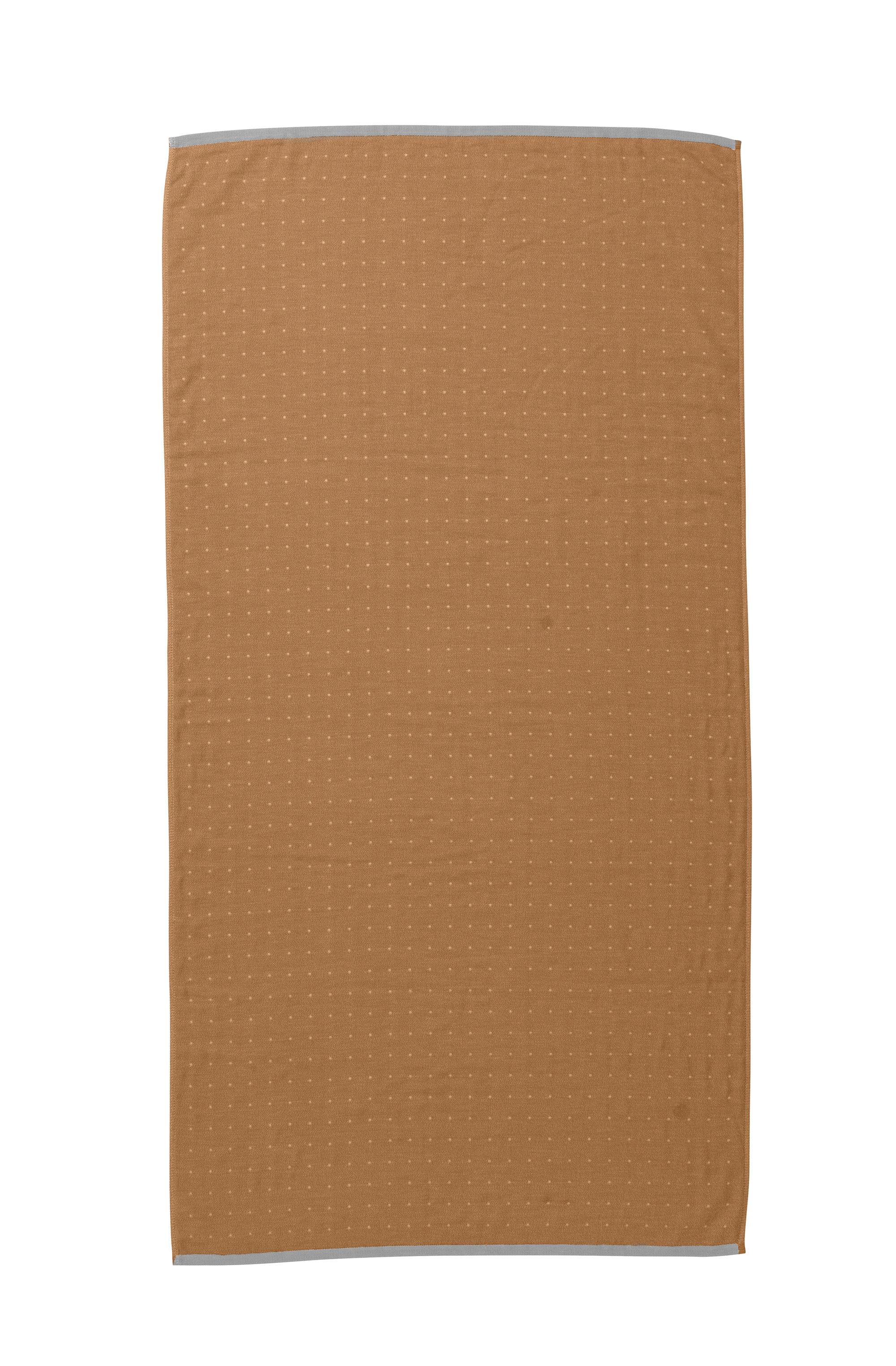 Decoration - Bedding & Bath Towels - Sento Bath towel - / Organic - 140 x 70 cm by Ferm Living - Moutarde - Cotton