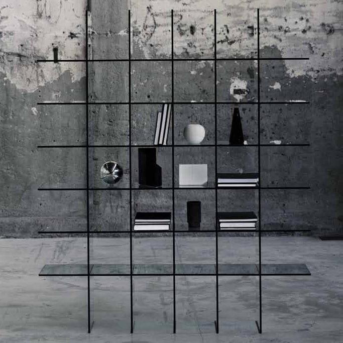 Mobilier - Etagères & bibliothèques - Bibliothèque Glass Shelve 60 x 57 cm - Glas Italia - Transparent - Cristal