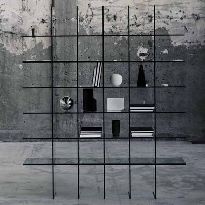 Furniture - Bookcases & Bookshelves - Glass Shelve Bookcase - 60 x 57 cm by Glas Italia - Transparent - Cristal
