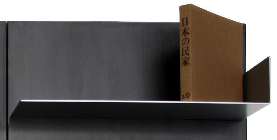 Furniture - Bookcases & Bookshelves - iWall Bookcase - 1 raised edge shelf - L 78 cm by Zeus - Silver - Painted steel