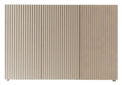 Buffet Leon 3 portes - Horm blanc/bois naturel en bois
