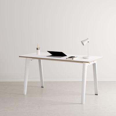 Bureau New Modern / 150 x 70 cm - Stratifié - TIPTOE blanc en métal/bois