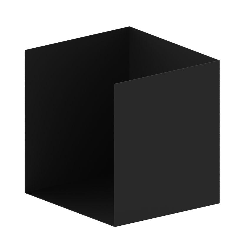 Mobilier - Etagères & bibliothèques - Caisson ouvert / Pour bibliothèque Easy Irony - L 35 cm - Zeus - Noir cuivré - Acier peint