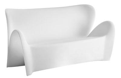 Outdoor - Canapés - Canapé droit Lily / 3 places - L 179 cm - MyYour - Blanc mat - Matière plastique