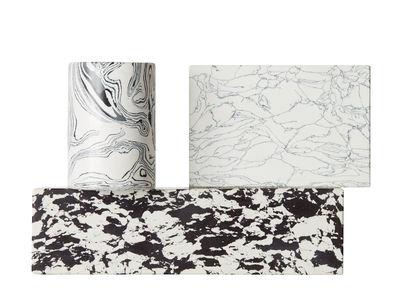 Déco - Bougeoirs, photophores - Chandelier Swirl / Effet marbre - Tom Dixon - Noir & blanc - Pigments, Poudre de marbre recyclée, Résine