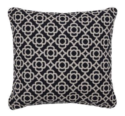 Coussin d'extérieur Lorette / 44 x 44 cm - Fermob noir en tissu