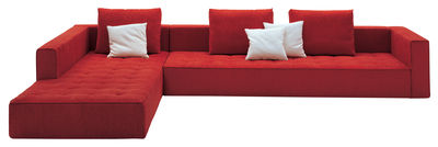 Arredamento - Divani moderni - Divano d'angolo Kilt - Tessuto di Zanotta - Tessuto - Rosso - Tessuto