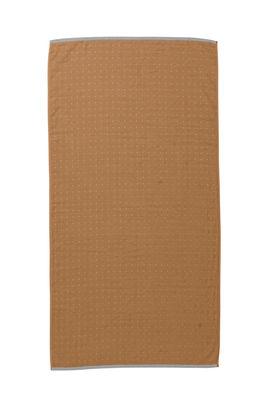 Drap de bain Sento / Organic - 140 x 70 cm - Ferm Living gris,moutarde en tissu
