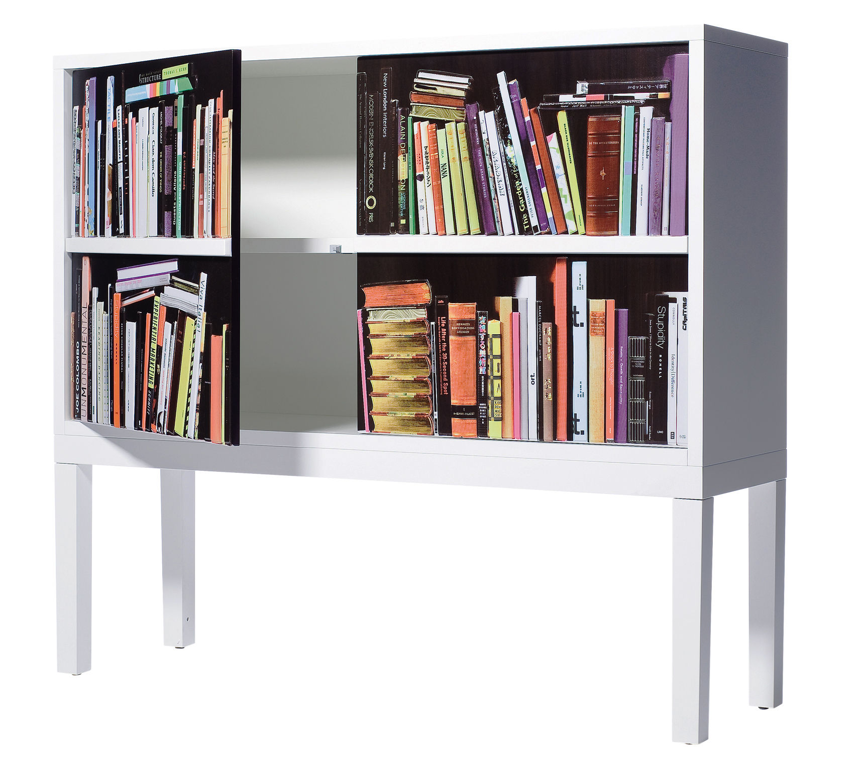 Furniture - Dressers & Storage Units - Bookshelf Dresser - Sideboard by Skitsch - White - Multicoloured - Lacquered MDF