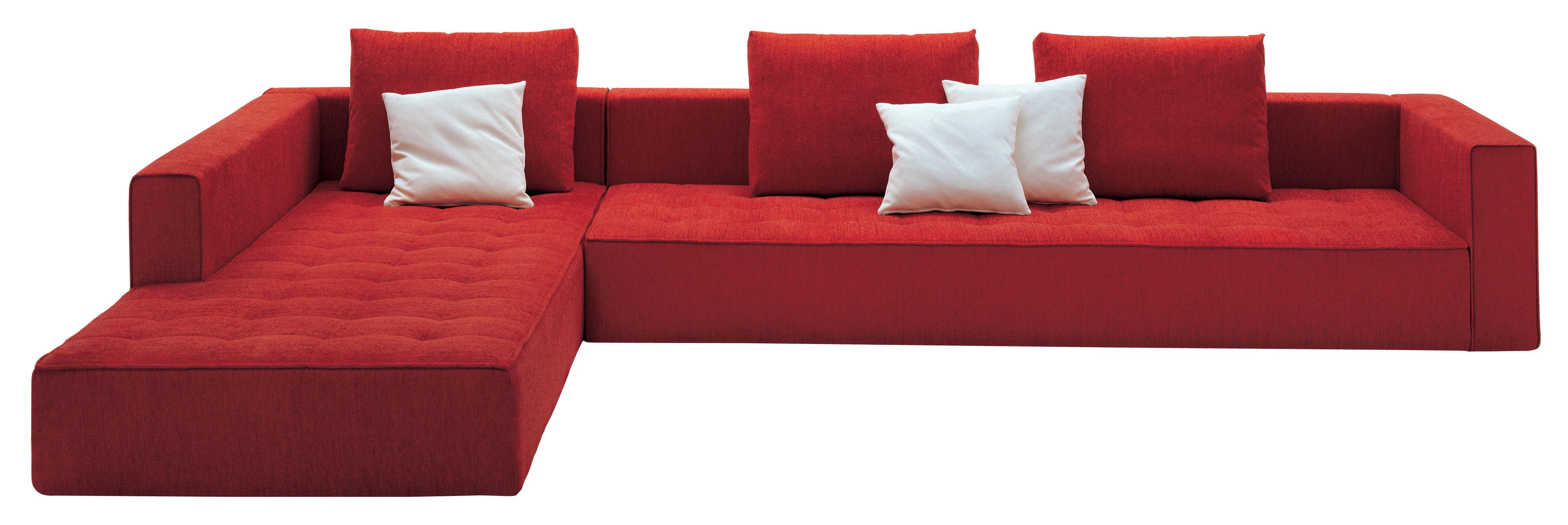 Möbel - Sofas - Kilt Ecksofa Stoff - Zanotta - Stoff - rot - Gewebe