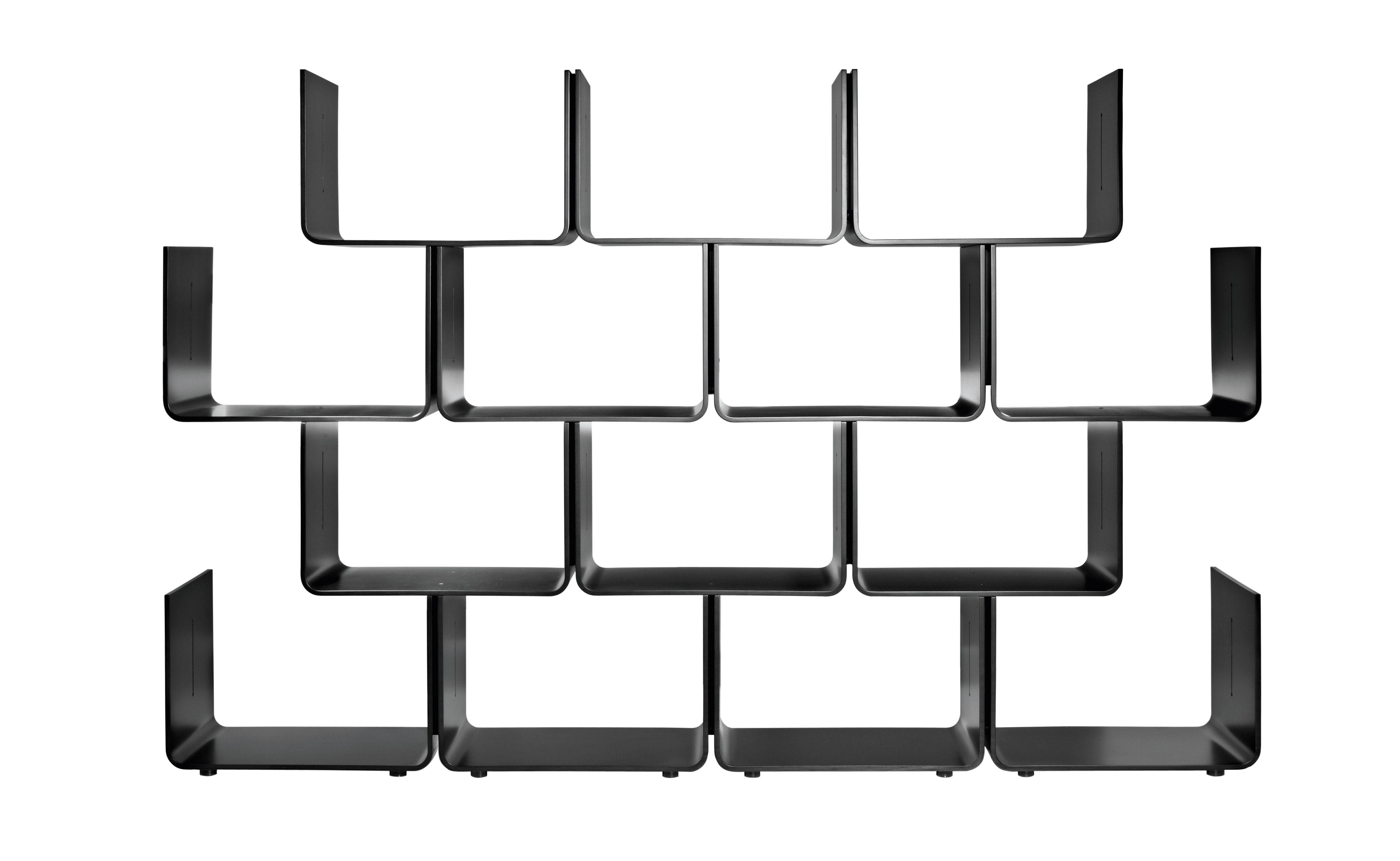 Mobilier - Etagères & bibliothèques - Etagère Elysée module de base - Magis - Noir - Avec patins - Multiplis d'érable