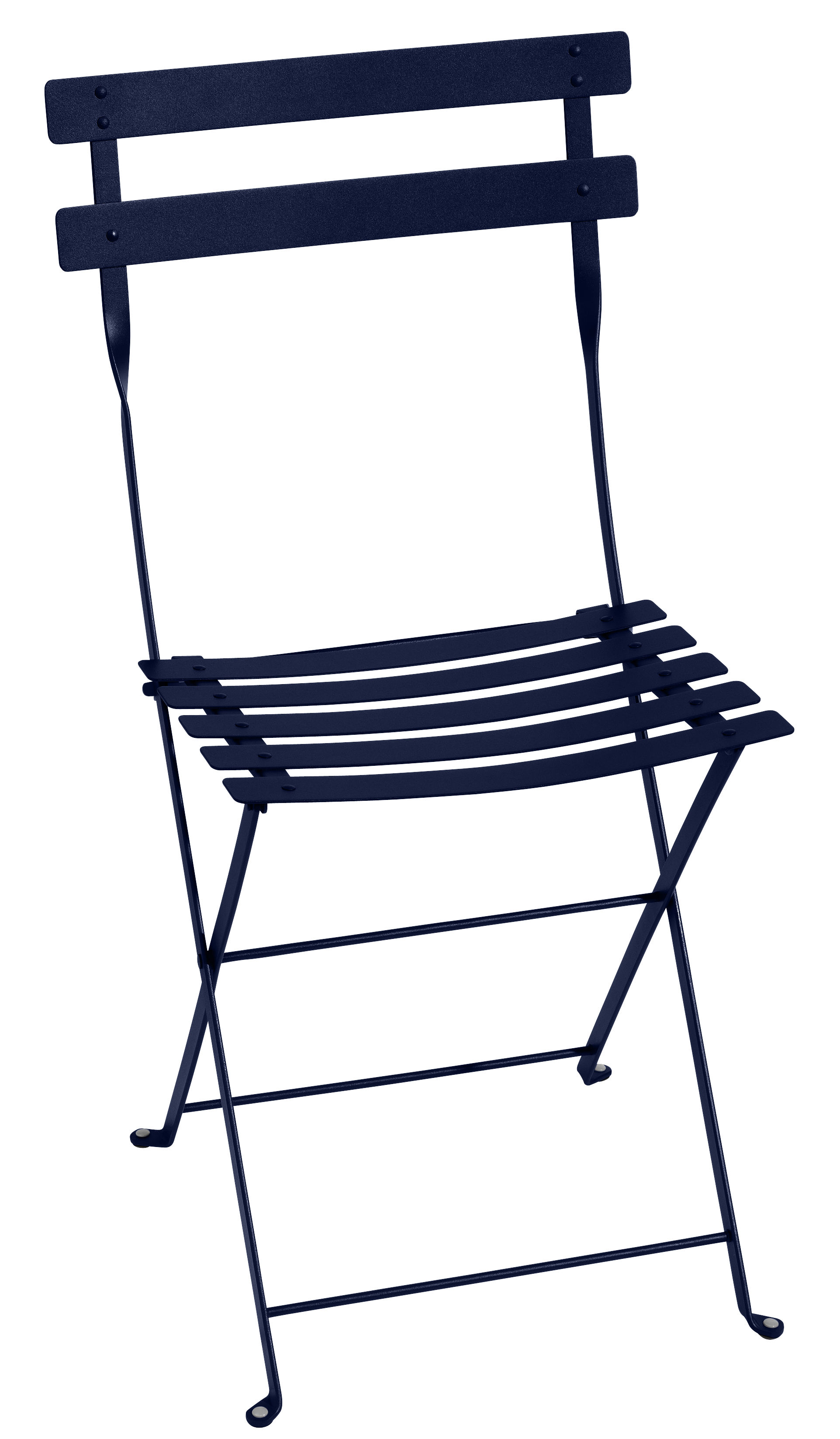 Furniture - Chairs - Bistro Folding chair - / Metal by Fermob - Ocean Blue - Lacquered steel