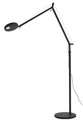 Illuminazione - Lampade da terra - Lampada a stelo Demetra - LED / Con rilevatore di presenza di Artemide - Anthracite - alluminio verniciato