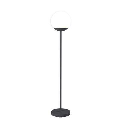Illuminazione - Lampade da terra - Lampada a stelo senza fili Mooon! LED - / H 134 cm - Bluetooth di Fermob - Carbonio - Alluminio, Polietilene
