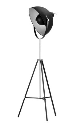Lampadaire Hollywood / Orientable -  H 163 à 183 cm - It's about Romi noir mat en métal