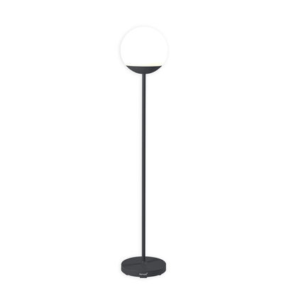 Luminaire - Lampadaires - Lampadaire sans fil Mooon! LED / H 134 cm - Bluetooth - Fermob - Carbone - Aluminium, Polyéthylène