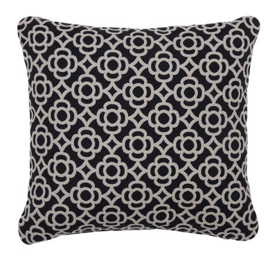 Decoration - Cushions & Poufs - Lorette Outdoor cushion - / 44 x 44 cm by Fermob - Licorice - Acrylic