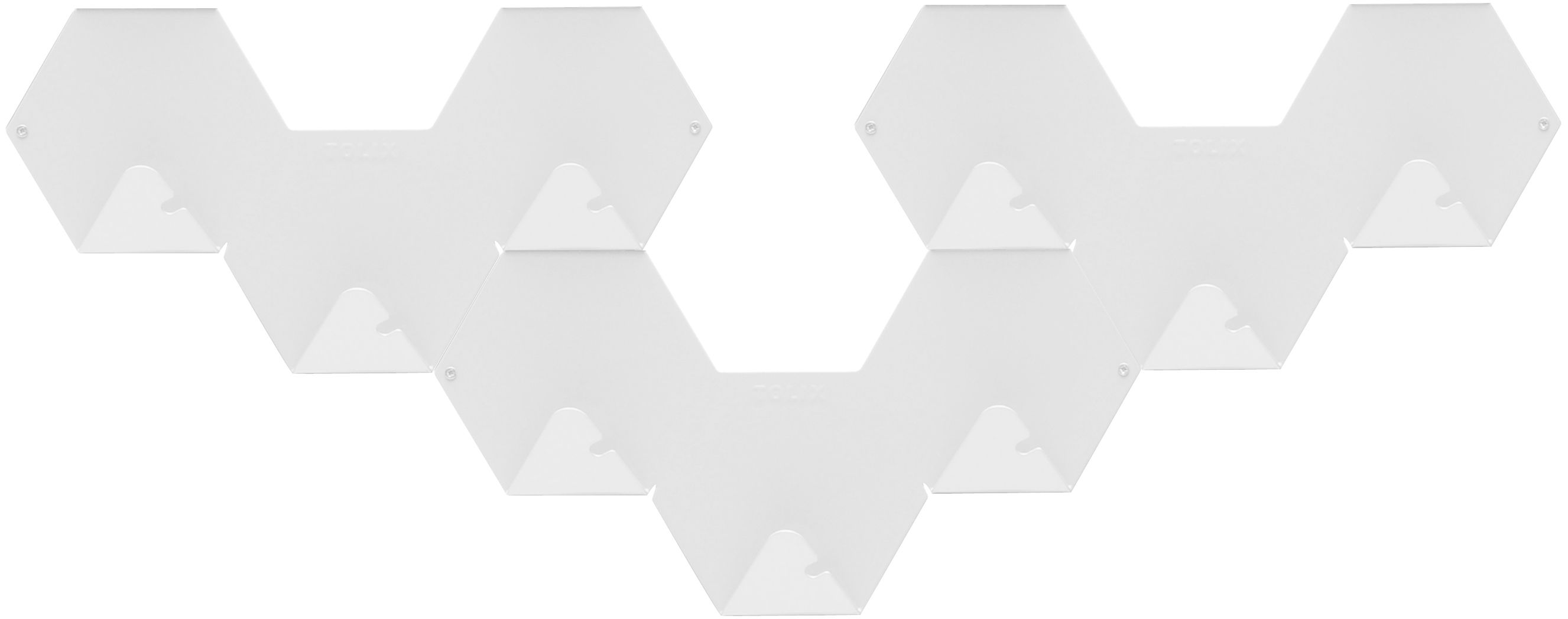 Mobilier - Portemanteaux, patères & portants - Patère Simplex lot de 3 - Tolix - Blanc - Acier recyclé laqué