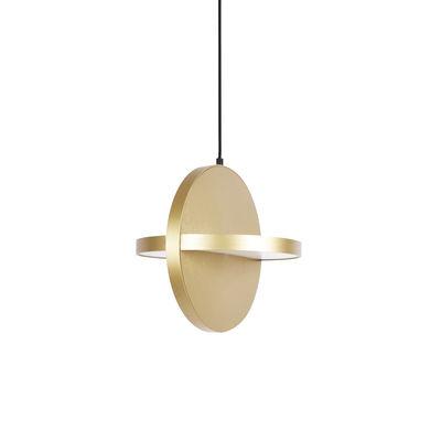 Lighting - Pendant Lighting - Big Plus LED Pendant - / Ø 33 cm - Aluminium by ENOstudio - Gold - Anodized aluminium
