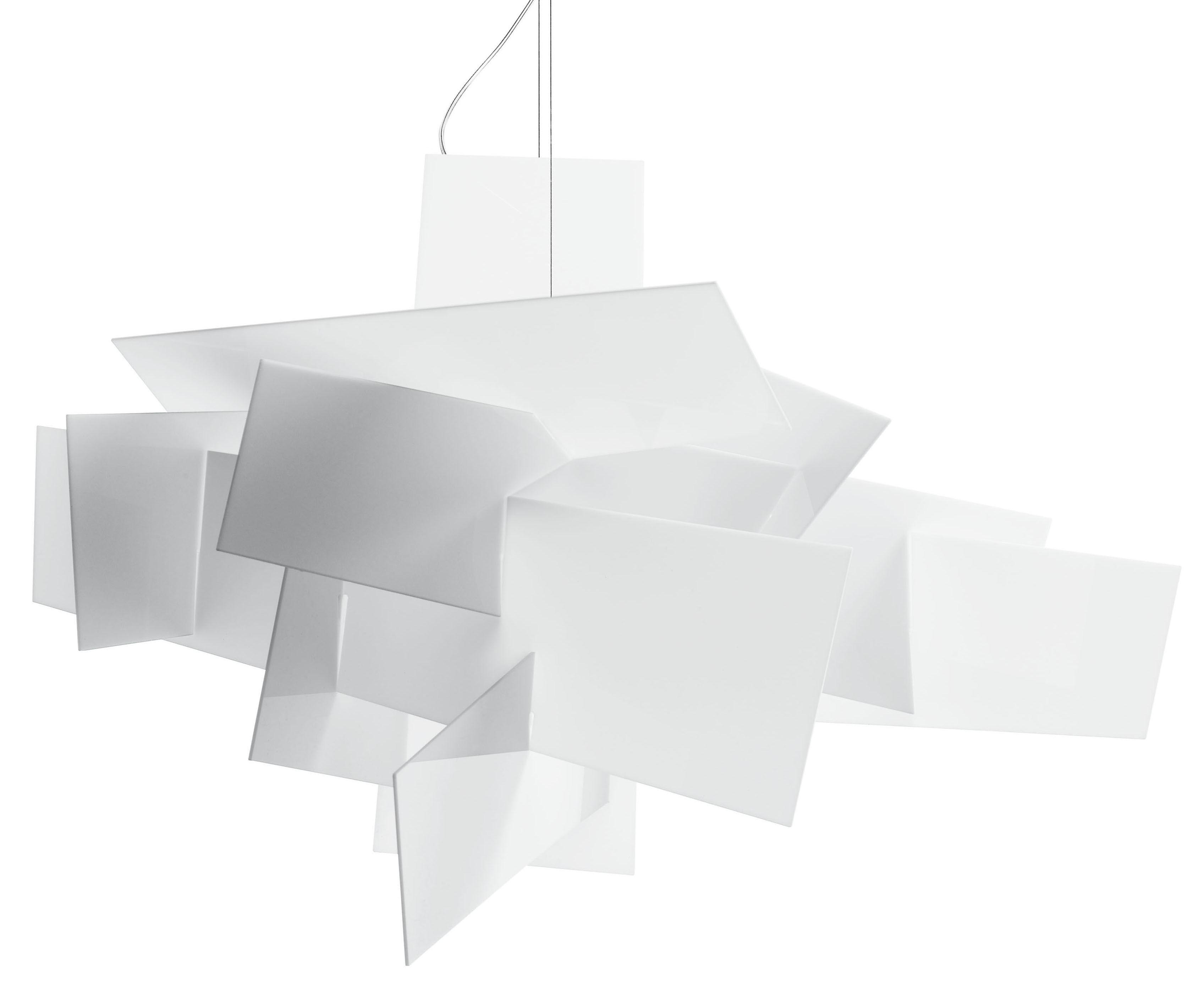 Leuchten - Pendelleuchten - Big Bang Pendelleuchte Ø 96 cm - Foscarini - Weiß - Methacrylate