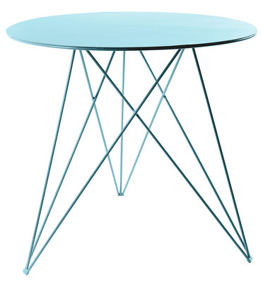 Furniture - Dining Tables - Sticchite Round table - Metal / Ø 75 x H 70 cm by Serax - Light blue - Painted iron