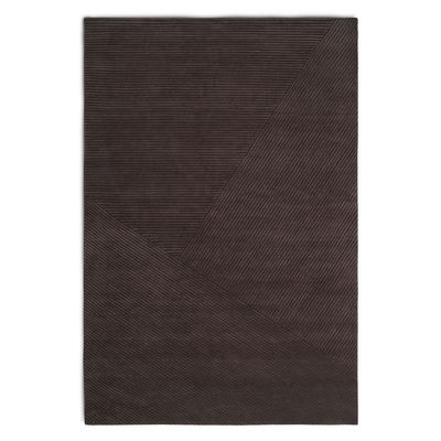 Decoration - Rugs - Row Rug - / 200 x 300 cm by Northern  - Dark brown - New-zealand wool
