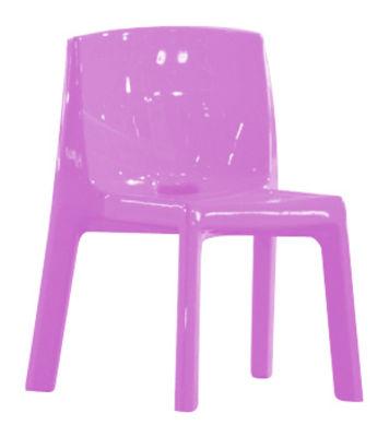 Q4 Sedia - / Plastica laccata Laccato rosa by Slide | Made In Design