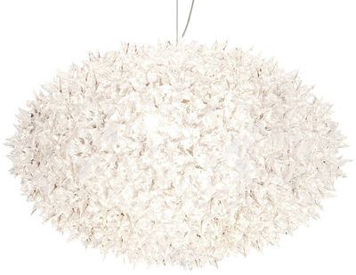 Illuminazione - Lampadari - Sospensione Big Bloom - /Modello Extra large - Elliptique - Ø 80 cm x H 51,5 cm di Kartell - Bianco opaco - policarbonato