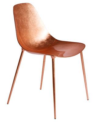 Möbel - Stühle  - Mammamia Stuhl / Metall mit Kupferbeschichtung - Opinion Ciatti - Verkupfert - Feuilles de cuivre, Metall