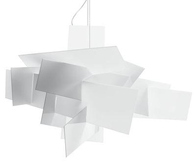 Suspension Big Bang / Ø 96 cm - Foscarini blanc en matière plastique