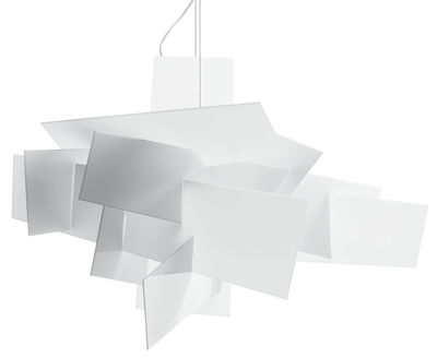 Suspension Big Bang / Ø 96 cm - Foscarini blanc en matière plastique