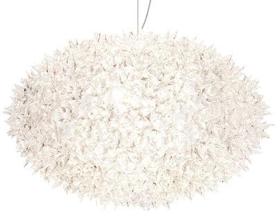 Suspension Big Bloom / Ø 80 cm - Kartell blanc opaque en matière plastique