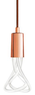 Suspension Drop Cap / Sans ampoule - Plumen cuivre en métal