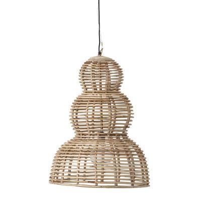 Luminaire - Suspensions - Suspension / Rotin - Ø 54 xH 77 cm - Bloomingville - Naturel - Fer, Rotin