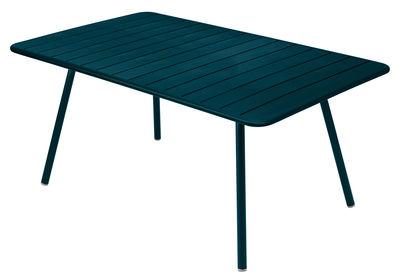 Table Luxembourg / 6 à 8 personnes - 165 x 100 cm - Fermob bleu acapulco en métal