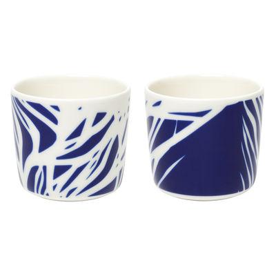 Arts de la table - Tasses et mugs - Tasse à café Ruudut / Sans anse - Set de 2 - Marimekko - Ruudut / Blanc, bleu - Grès