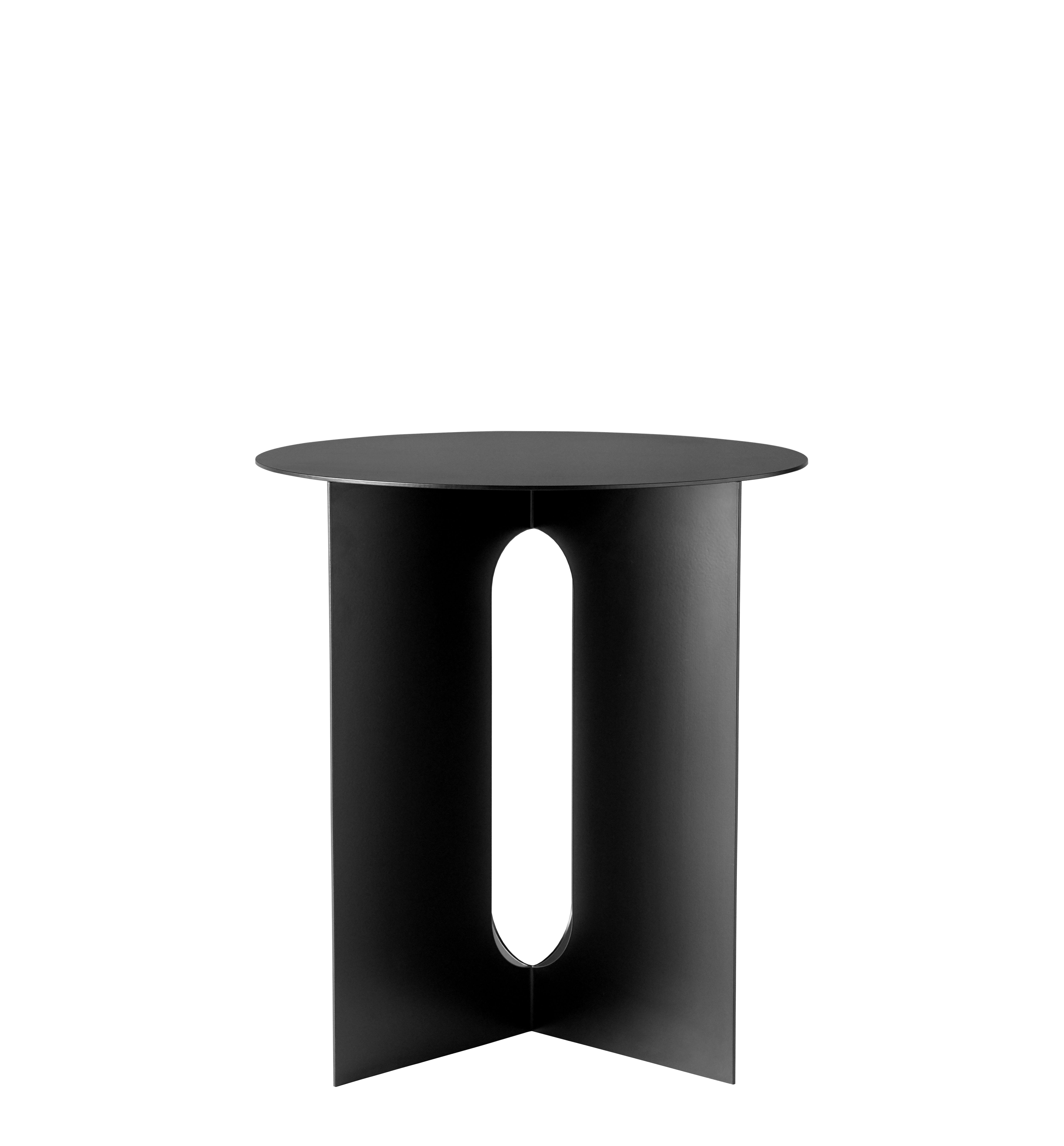 Arredamento - Tavolini  - Tavolino d'appoggio Androgyne - / Acciaio di Menu - Tavolo / Acciaio nero - Acciaio epossidico