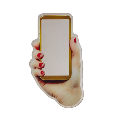 Dekoration - Spiegel - Selfie Wandspiegel / 39 x H 70 cm - Seletti - Selfie - Glass mit Siebdruck