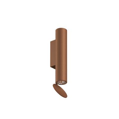 Luminaire - Appliques - Applique Flauta Spiga 1 / LED - Motif chevron / H 22,5 cm - Flos - Cuivre - Aluminium