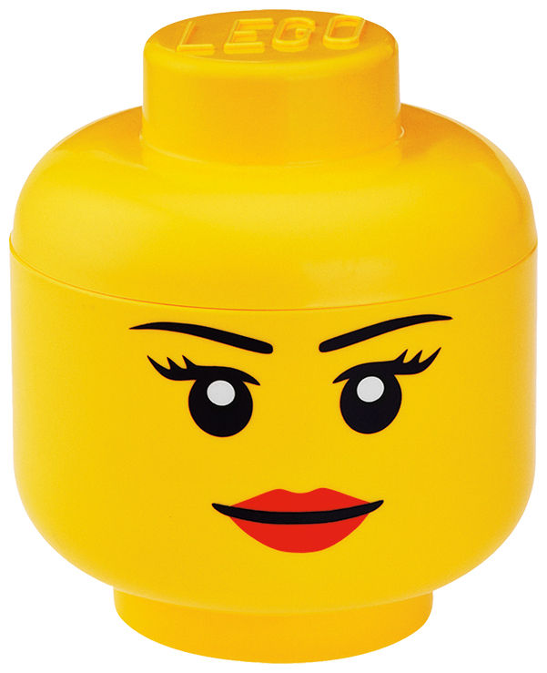 Decoration - Children's Home Accessories - Lego® Head Girl Box - Small by ROOM COPENHAGEN - Girl / Yellow - Polypropylene