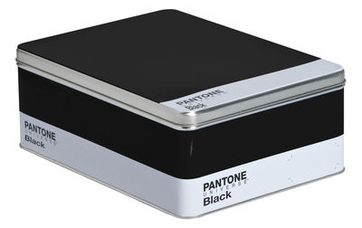 Decoration - Children's Home Accessories - Pantone Box - Metal box - H 11 cm by Seletti - Black - Metal