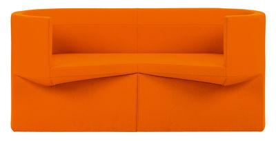Mobilier - Canapés - Canapé droit Odin / 2 places - L 160 cm - ClassiCon - Tissu orange - Laine