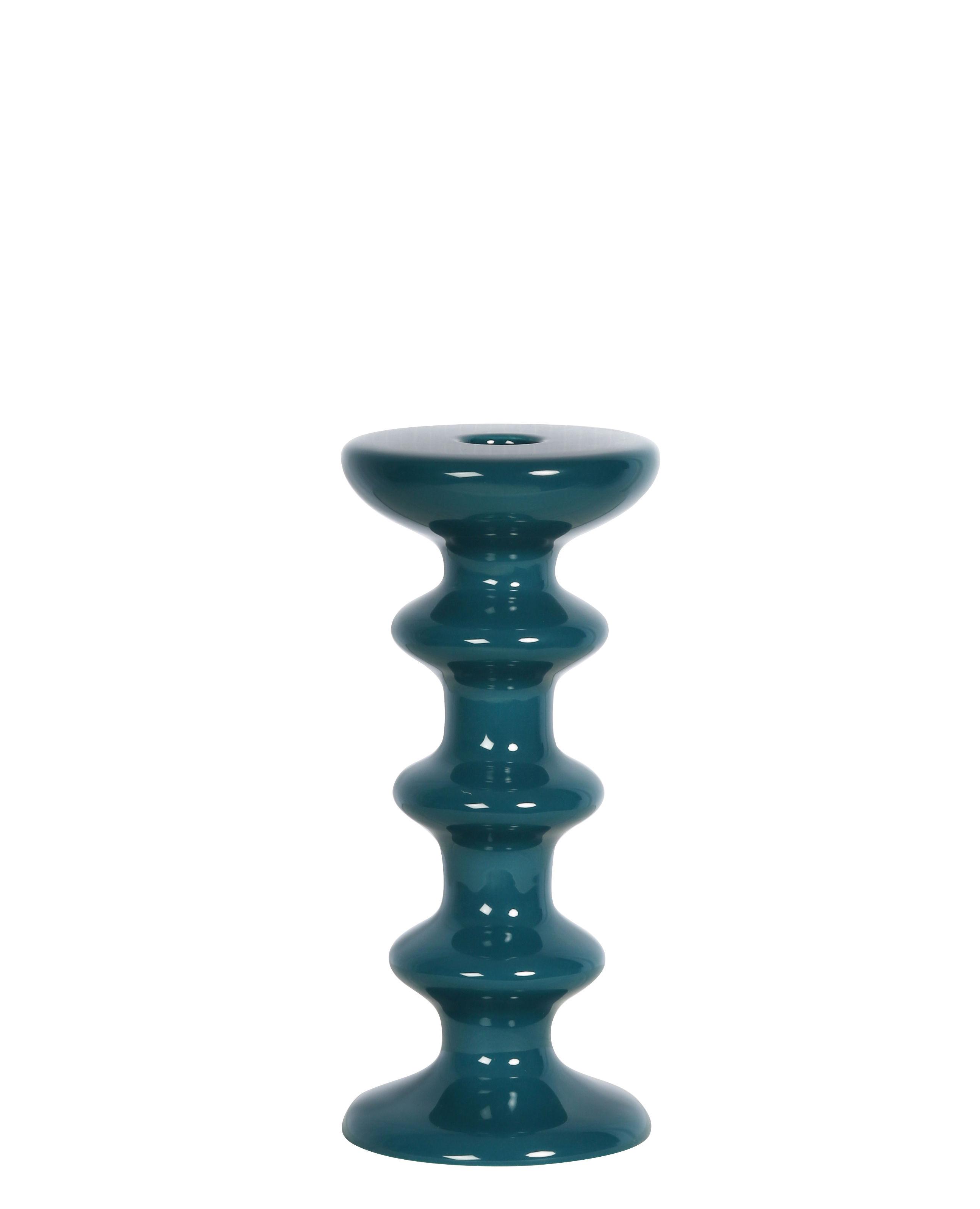 Decoration - Candles & Candle Holders - Slave Candle stick - / Ceramic - H 20 cm by Maison Sarah Lavoine - Sarah blue - Ceramic
