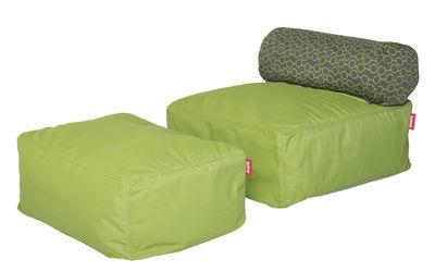 Chauffeuse Tsjonge-jongetje Junior / Avec pouf - Fatboy vert,motif cercles verts en tissu