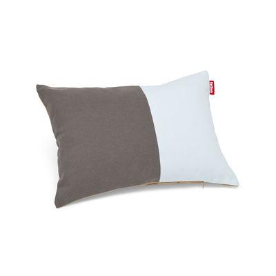 Coussin Pop Pillow / Coton - 50 x 37.5 cm - Fatboy bleu clair,gris foncé,camel en tissu