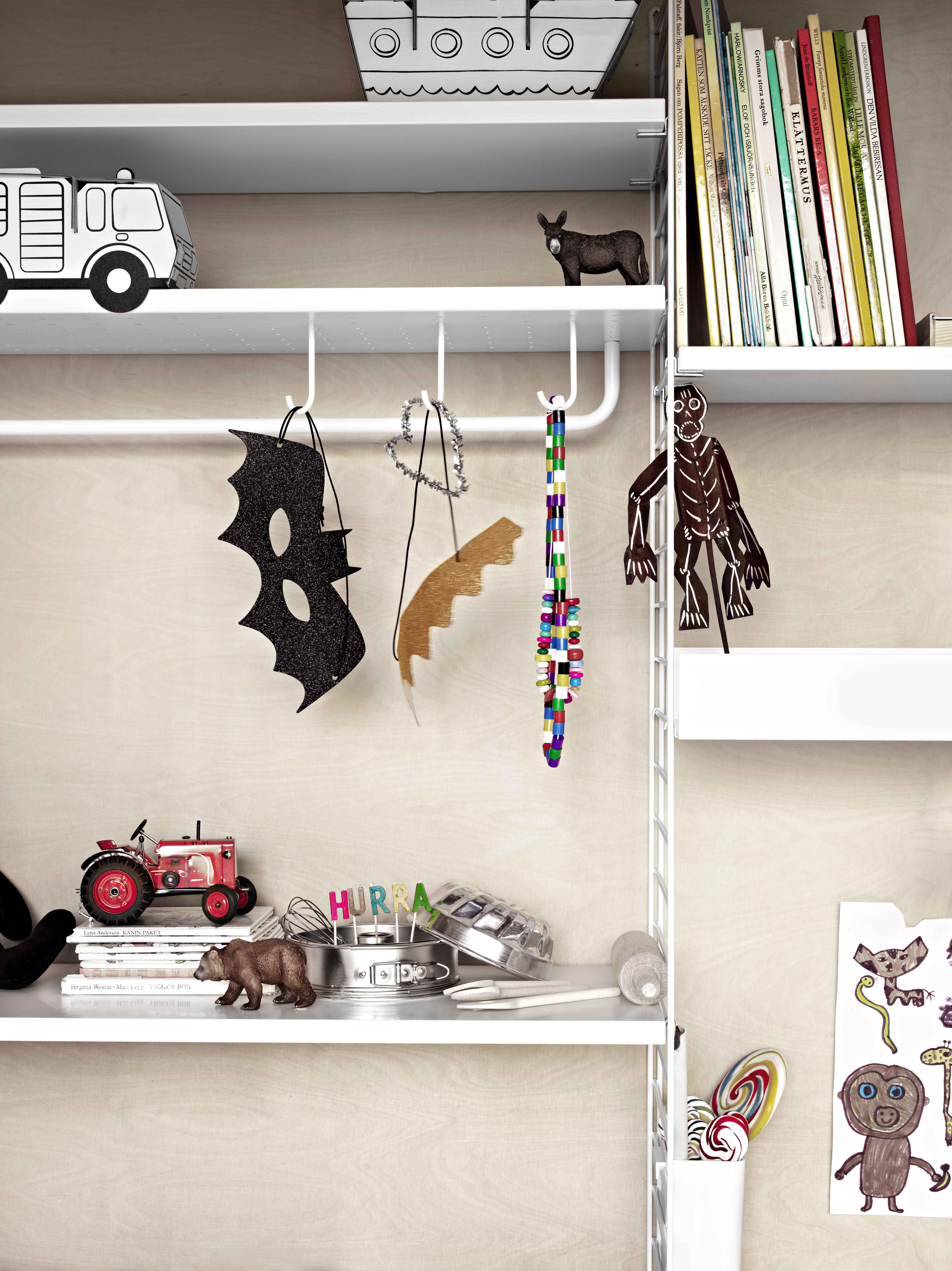 Furniture Pour Métal 5 Crochet De Perforé String En Étagères Set orxeCBd