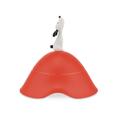 The Christmas shop - Out of the ordinary - Lula Dog bowl by A di Alessi - Orange - Stainless steel, Thermoplastic resin