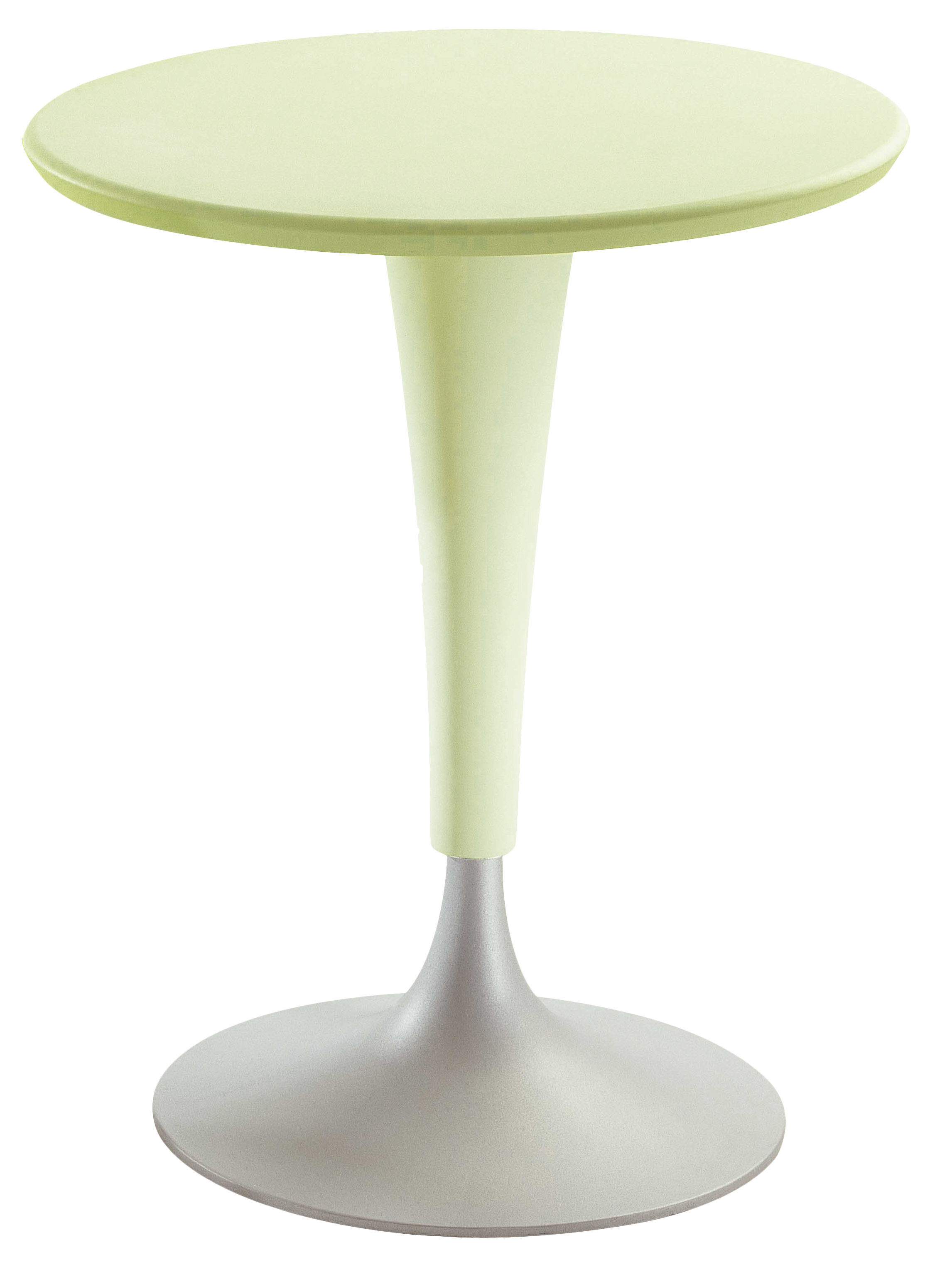 Table ronde Dr. Na Kartell - Vert jaune clair - h 73 x Ø 60 | Made ...